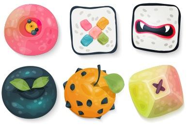 Скачать Sushi Icons By Klukeart