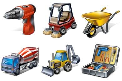 Скачать Real Vista Construction Icons By Iconshock