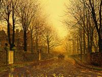 Туманный сумрак и городские окраины на картинах Аткинсона Гримшоу