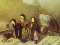 Коричнево-серый колорит и игра светотени на картинах Василия Перова