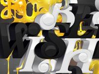 Удивительные примеры гранжевой, световой и трехмерной типографики