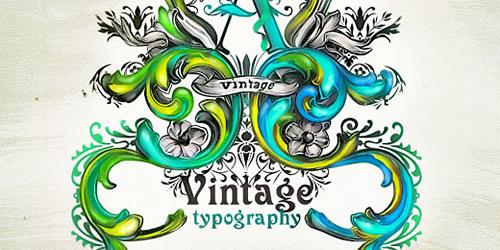 Перейти на Vintage Typography By Essfero