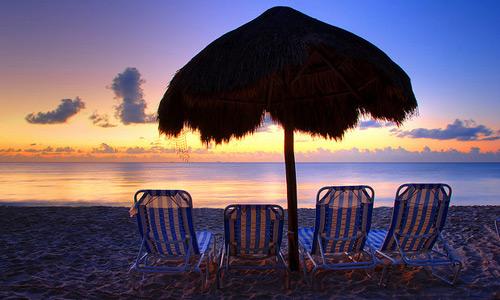 Скачать Caribbean beach at sunrise