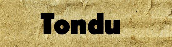 Tondu