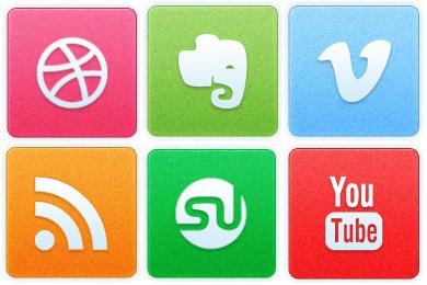 Скачать Clean Noise Social Icons