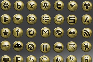 Скачать Network Gold Icons