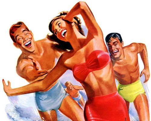 Перейти на Jantzen swimsuits, 1949 Pete Hawley