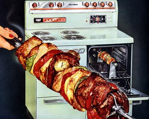Перейти на Now! Barbecue! Roast! With Self-Basting Rotary Roaster Admiral, 1955