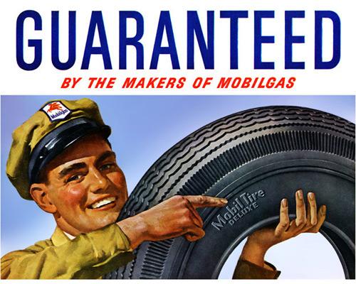 Перейти на For long, safe, economical mileage! Mobil, 1948