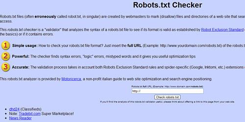 Перейти на Robots checker