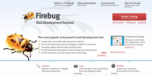Перейти на Firebug Firefox Extension