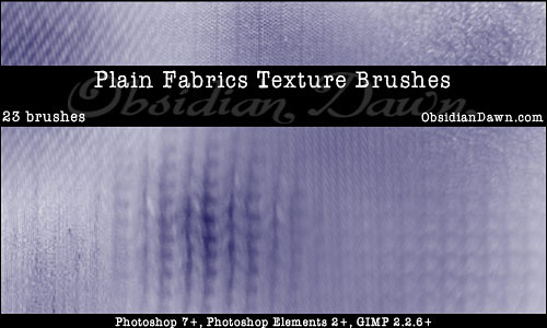 Скачать Plain Fabric Photoshop Brushes