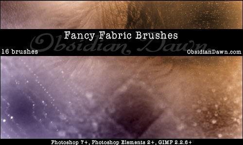Скачать Fancy Fabric Photoshop Brushes