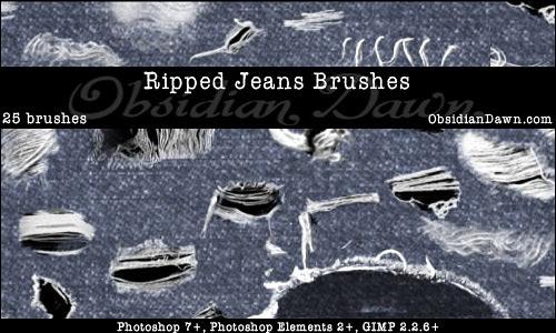 Скачать Ripped Torn Jeans Brushes