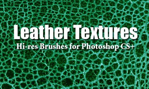 Скачать 10 Leather Textures PS Brushes