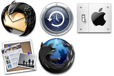 Скачать Black And Blue Icons
