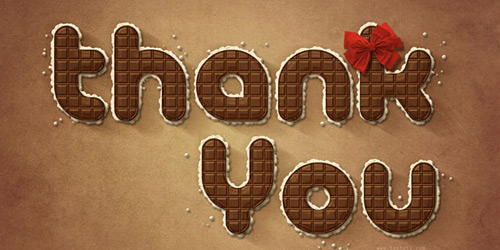 Перейти на Thank You By Textuts