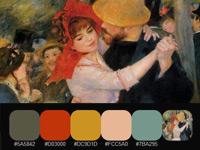 20 готовых цветовых палитр с вибрирующих картин Огюста Ренуара