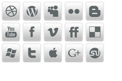 Скачать Black White Social Icons By Creativenerds