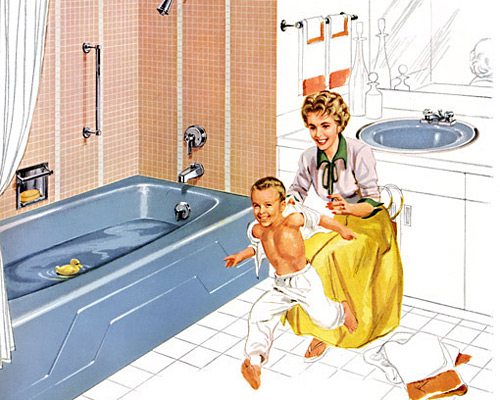 Dynametric bath and Radiant lavatory in Cerulean Blue, 1960