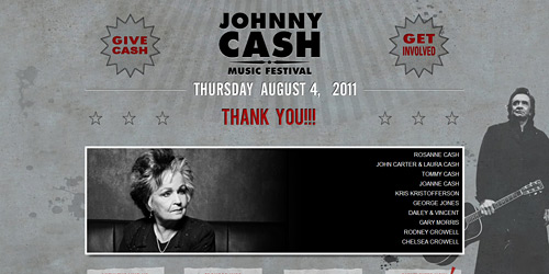 Перейти на Johnny Cash Music Fest