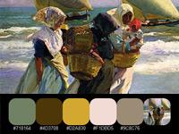 20 готовых цветовых палитр с солнечных картин художника Бастида