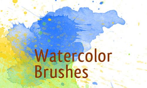 Скачать Watercolor Photoshop Brushes