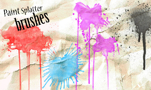 Скачать Paint Splat Photoshop Brushes