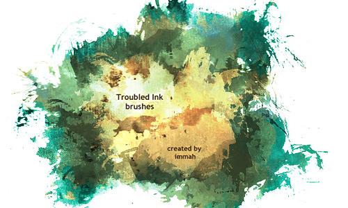 Скачать Troubled Ink brushes