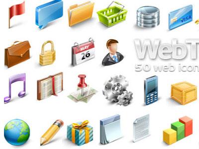 Скачать Webtoys 50 Web Icons