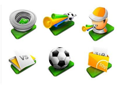 Скачать Football Icons By Poseit