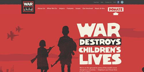 Перейти на War Child