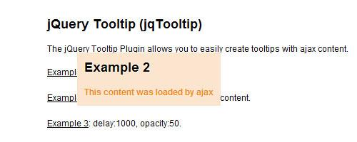 Перейти на jQuery Tooltip Plugin