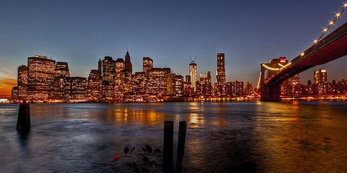 Скачать View of Manhattan and Brooklyn Bridge