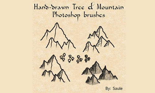Скачать Mountain and Tree brushes