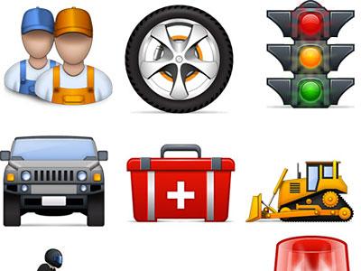 Скачать Standard Road Icons
