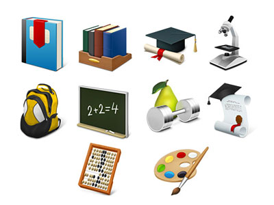 Скачать Desktop Education Icons