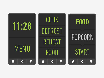 Перейти на Touchscreen Kitchen Appliance