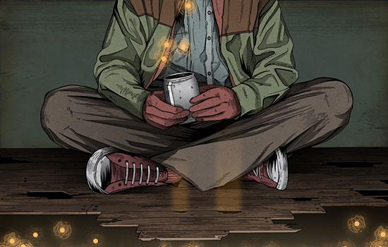 Утомленные лица в багрянце жухлых красок от иллюстратора Alexander Wells