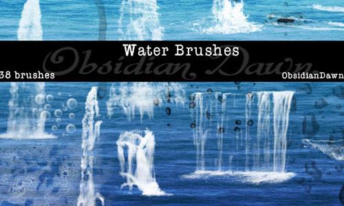 Скачать Water Photoshop Brushes