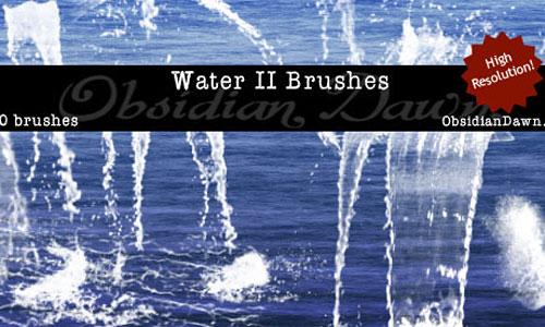 Скачать Water II Photoshop Brushes