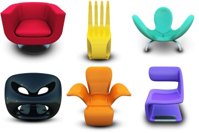 Скачать Modern Chairs Icons By Archigraphs