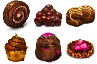 Скачать Chocolate Obsession Icons By Artbees