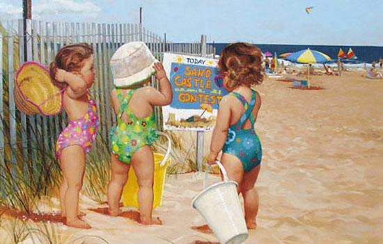 Деловые карапузы в работах замечательного художника Donald Zolan
