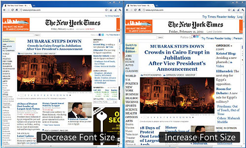 Перейти на Font Size Increase