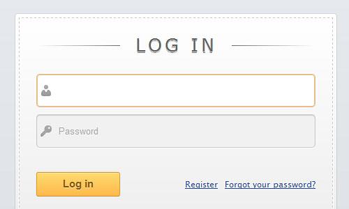 Перейти на Slick login form