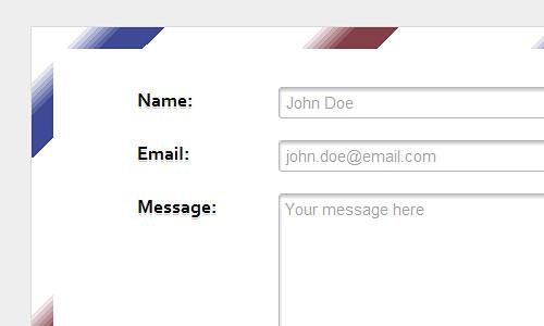 Перейти на HTML5 & CSS3 envelope contact form