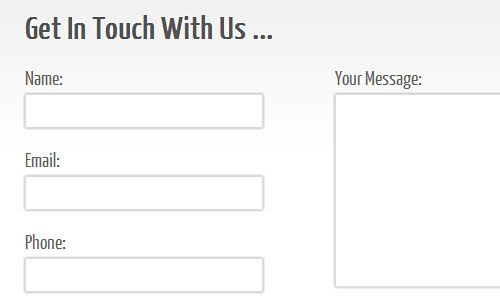 Перейти на Clean and Stylish CSS3 Contact Form