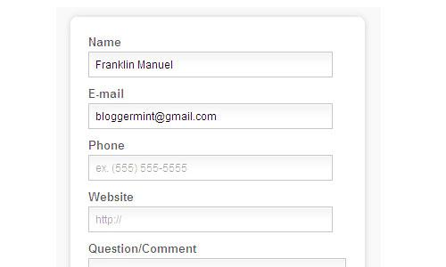 Перейти на How To Create A HTML5 Contact Form