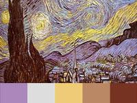 20 готовых цветовых палитр с загадочных картин Винсента ван Гога